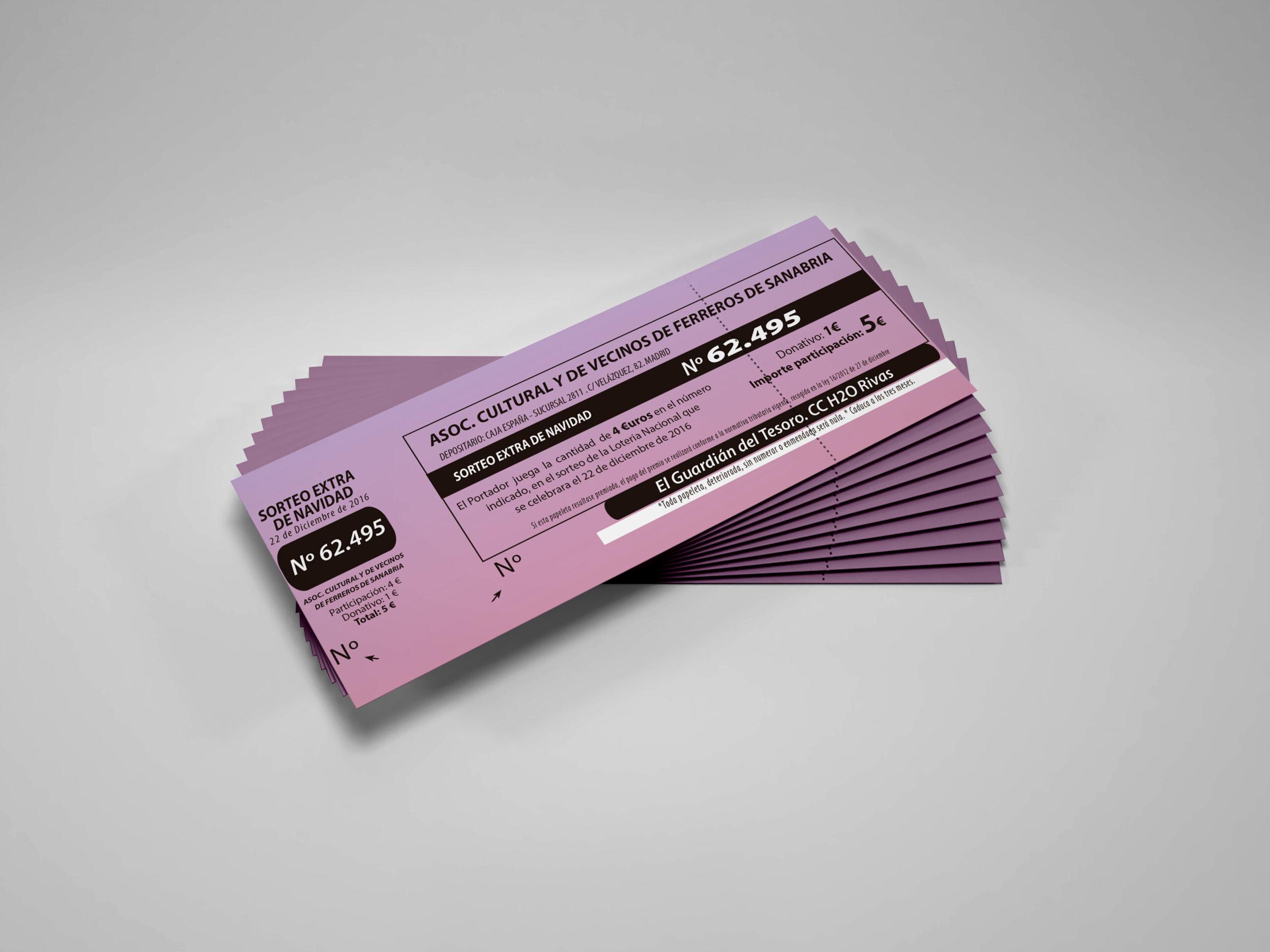 Imprimir decimos de lotería personalizados