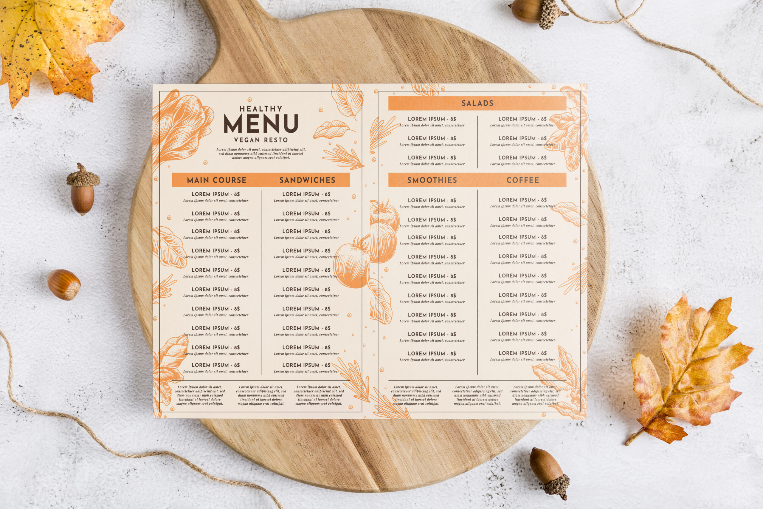 Diseño de cartas para restaurantes