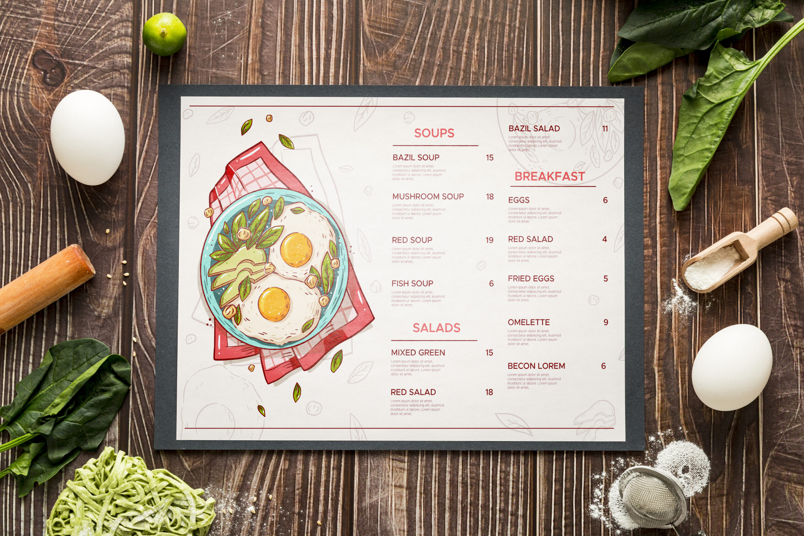 Diseño e impresión de manteles de papel para restaurantes